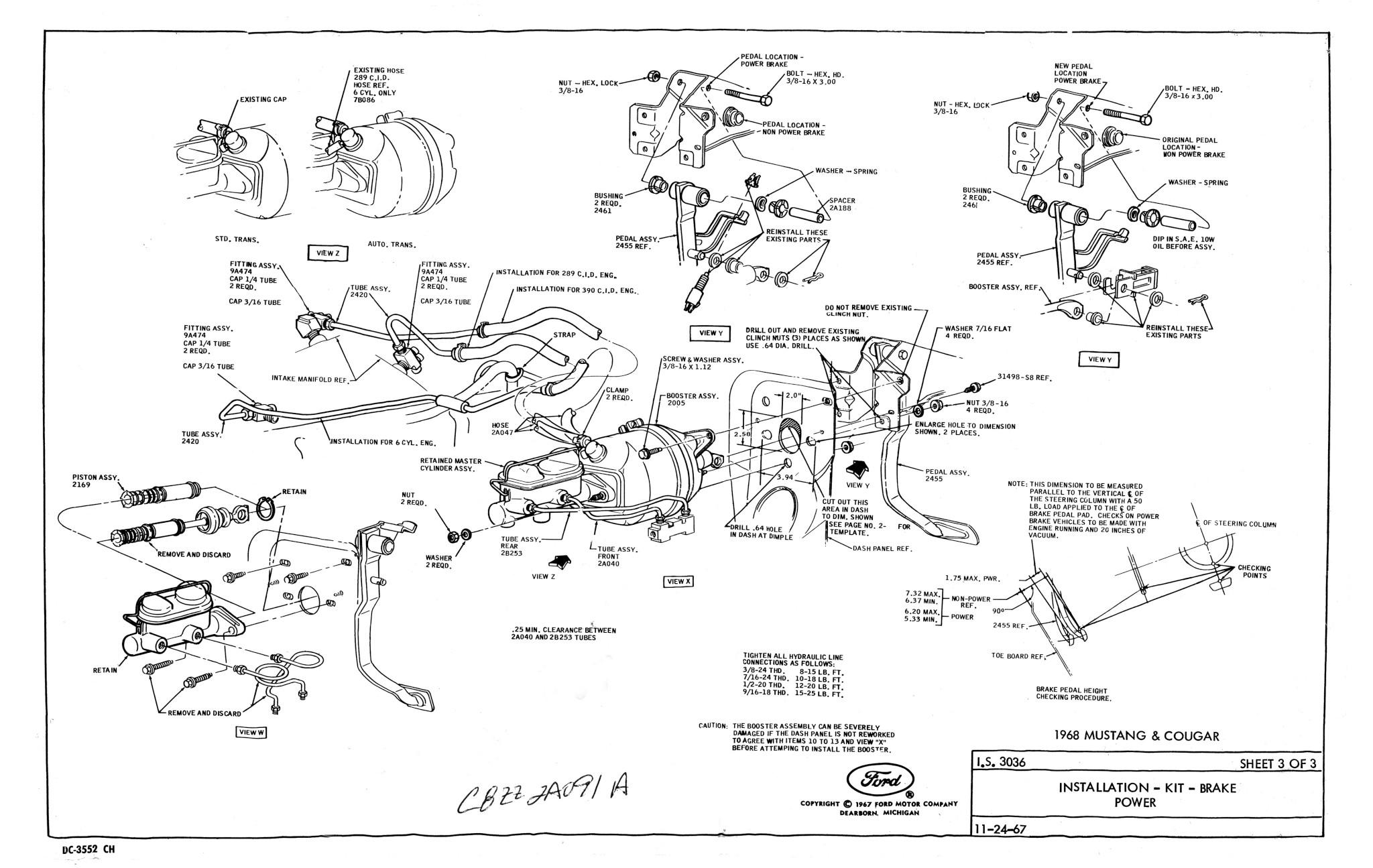 drum brake conversion - power - nos