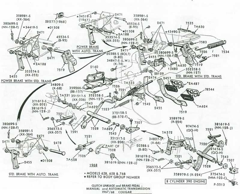 1964 Ford 289 Engine Diagram